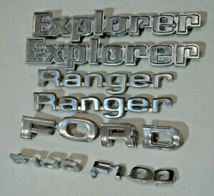 Ford F100 Ranger Explorer Emblems Badges Oem Set Lot