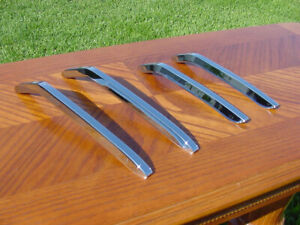 1967 Impala Bumper Guard Billet Chrome Inserts Nos 427 396 67 Chevy Ss Caprice