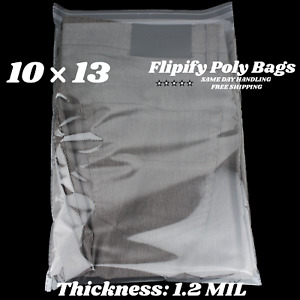 10x13 Clear Resealable T shirt apparel Self Seal Lip Tape Poly Plastic Bags