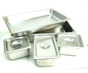 Stainless Steel Insert Catering Buffet Table Pans Lot Liberty Ware Others Used
