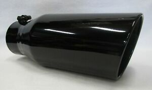4 Inlet 6 Outlet 15 Long Gloss Black Diesel Exhaust Tip Dodge