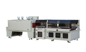 Auto Side Sealer Shrink Wrap With Heat Tunnel