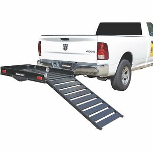 Ultra tow Aluminum Cargo Carrier With Ramp 500lb Capacity 60inl X 30inw X 4inh