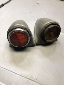 1930s Chevy Ford Mopar Aluminum Hot Rod Tail Lights Rare Art Deco