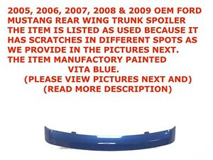 2005 2009 Ford Mustang Rear Wing Trunk Spoiler Vista Blue 6r336341602aaw