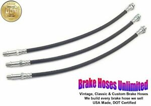 Brake Hose Set Chevrolet Truck 3100 1 2 Ton 1956 1957 1958 1959