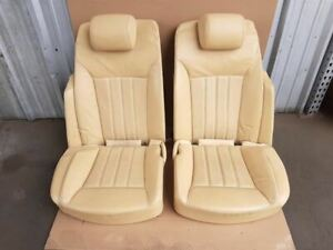 Bentley Flying Spur Rear Seats Set Left Right Pair Beige Captain Chairs