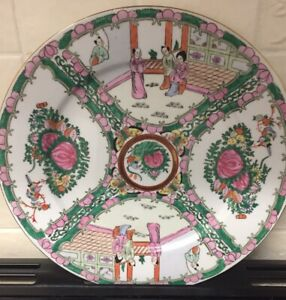Good Antique Chinese Canton Famille Rose Porcelain Plate 1 C1880