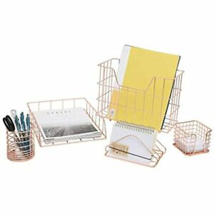 Ycoco 5 Piece Desk Organizer Set Office Supplies Accessories With Letter Paper