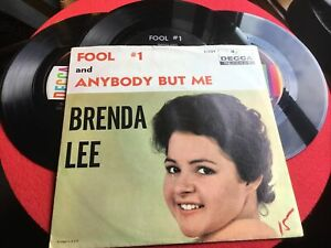EXCELLENT LOT OF 3 BRENDA LEE 45 RPM RECORDS GREAT TITLES 👀 $6.66