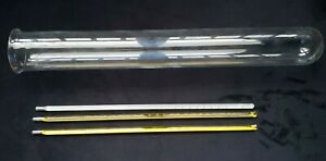 Pyrex Test Tube 15 7 8 X 2 3 16 3 Fisher Thermometers 12 Inches