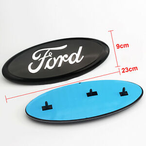 1 Pc Black 9 Inch 2005 2014 Ford F150 Front Grille Tailgate Oval Emblem
