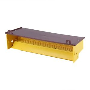 Removable Yellow Plastic Pollen Trap With Ventilated Pollen Tray For Beekeeping