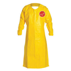 Dupont Qc278byl00001200 Tychem 2000 Sleeved Apron 52in Lot Of 12