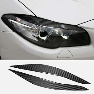 Carbon Fiber Headlight Eyebrow Cover Accessories For Bmw 5 Series 2011 2017 Us