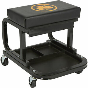 Northern Tool Equipment Mechanic s Roller Seat With Drawer 300 lb Capacity
