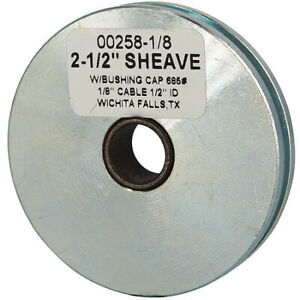Zoro Select 00258 1 8 c Sheave Wire Rope 1 8 In Max Cable Size 685 Lb Max