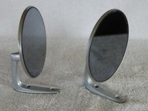 2 Nos Vintage Classic Metal Sports Car Hot Rat Rod Side View Mirrors Ew