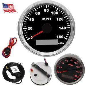 85mm 0 160mph Gps Speedometer Gauge Black For Car Truck Motorcycle Marine Boat