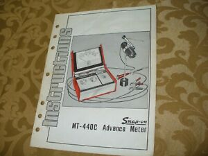 Snap On Instruction Manual Mt 440c Advance Meter