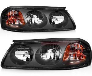 For 2000 2005 Chevy Impala Headlight Assembly Front Driver Passenger Lamp Pair