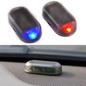 Fake Car Solar Anti Theft Dummy Alarm Warning Security Led Flashing Light Acces