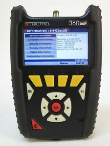 Trilithic 360dsp Docsis3 0 Cable Meter With Charger 360 Dsp