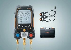 Testo 550s Basic Kit Digital Manifold With 2 Way Valve Wired Temperature Prob