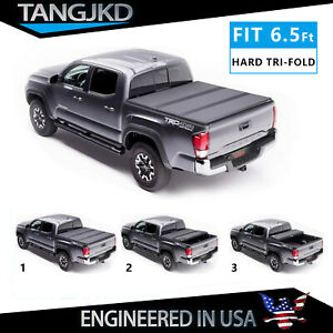 Hard Tri Fold Truck Bed Tonneau Cover For 2014 2021 Ford F150 Super Crew 6 5ft