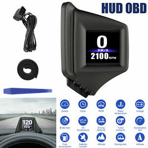 Universal Digital Car Obd Gps Speedometer Mph Km H Hud Display Overspeed Warning