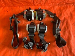 02 06 Acura Rsx Type S Front Rear Complete Seat Belt Set Belts Black Oem 41