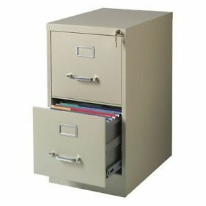 Hirsh 17889 15 W 2 Drawer Vertical File Cabinet Putty Letter