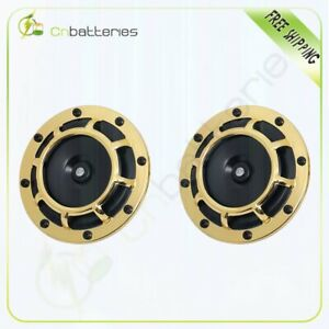Golden Electric Compact Car Horn Raging Sound For Car Suv Truck 12v 115db 125 Mm