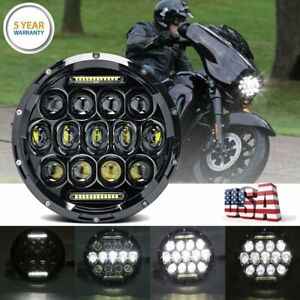 1pc 7 Inch Motorcycle Headlight Round Cree Led Projector For Harley Cafe Racer