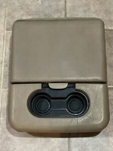 99 10 Ford F250 F350 Center Console Jump Seat Storage Armrest Tan