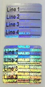 Sv75c 100 To 1000 Custom Svag 3 4 Square Product Protection Hologram Stickers