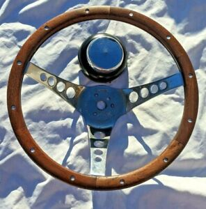 Vintage 13 1 2 The 500 Superior Chevy Or Ford Hub Cap Wood Steering Wheel