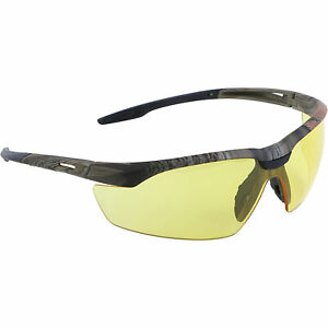 Lincoln Electric Protective Safety Glasses Camo Frame Amber Lens