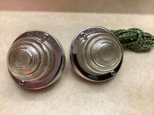 Pair Nos Truck Back Up Light Vintage Auto Do ray 465 Reverse Lamp Glass Lens