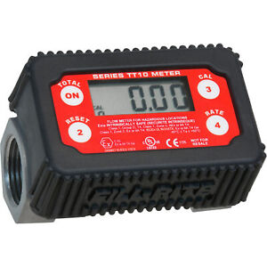 Fill rite Digital Turbine Fuel Meter 1in Inlet outlet 2 To 35 Gpm