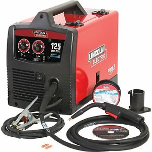 Lincoln Electric Easy Core 125 Flux cored mig Welder With Spool Gun 120v