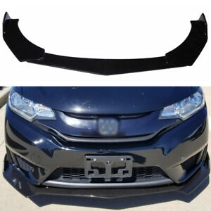 Glossy Black Front Bumper Lip Spoiler Chin Splitter For Honda Civic Accord Cr v