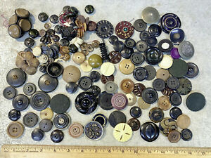 Big Lot Of Vtg Antique Buttons Collection Larger Sizes Decorative Sewing Sew