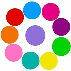 10 Pieces Dry Erase Circles Dots White Board Marker Removable Vinyl Wall Decal