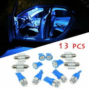 13x Car Interior Led Light Bulbs For Dome License Plate Lamp 12v Kit Accessories