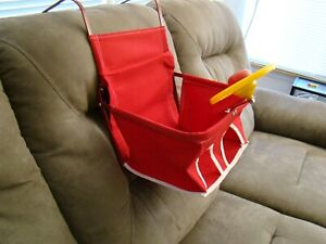 Red Vintage Style Child Car Seat Baby Seat Safety Seat Antique Car Child Seat