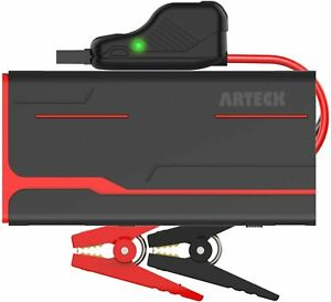 Arteck 800a Peak Portable Car Jump Starter Power Bank Pack Battery Charger 12v