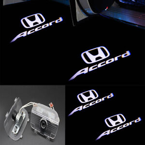 2pcs Door Led Ghost New Logo Projector Puddle Lights For Honda Accord 2013 2020