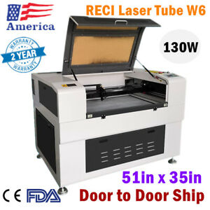 51 X 35 110v 130w Reci W6 Co2 Laser Cutter Machine With Electric Lift Table