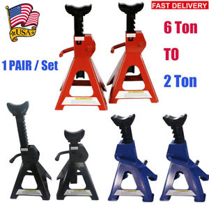 Pair Of 3t 4t 6ton Heavy Duty Steel Jack Stands F Car Truck Tire Change Lifting